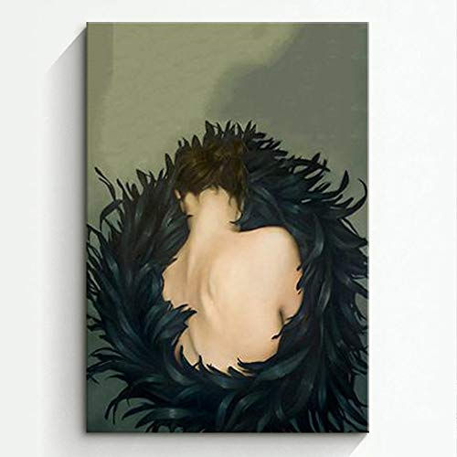 RTCKF Nordischen Stil Wohnzimmer Dekoration malerei mädchen Body Art malerei leinwand malerei ohne Rahmen E2 40 cm * 60 cm (kein Rahmen)