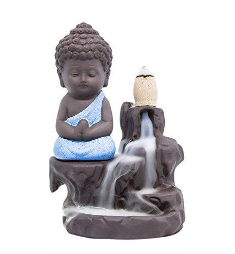 Quemador de incienso torre de reflujo conos de incienso soporte Cerámica Porcelana Buda monje Ash Catcher