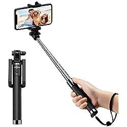 Mpow Perche Selfie Bluetooth, Ultra-Léger Selfie Stick Monopied Extensiblede 31, 9 pouces avec Télécommande Bluetooth pour iPhone 11/Pro Max/XS Max/X/ 8/ 7/ Plus/ 6S/ 6, Galaxy S10/ S9/S8/Ect