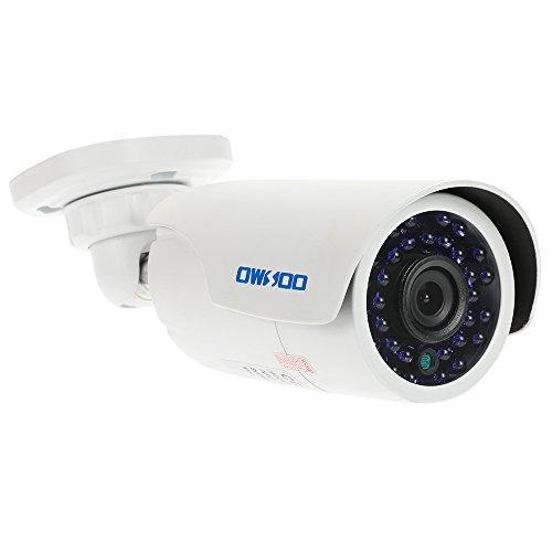 OWSOO Kugel-CCTV-Kamera 720P 1500TVL AHD Wasserdichte 1.0MP 3.6mm 1/4 Zoll CMOS 30 IR-LEDs Nachtsicht IR-CUT Indoor Outdoor Sicherheit PAL-System (Sicherheit Cmos-kamera)