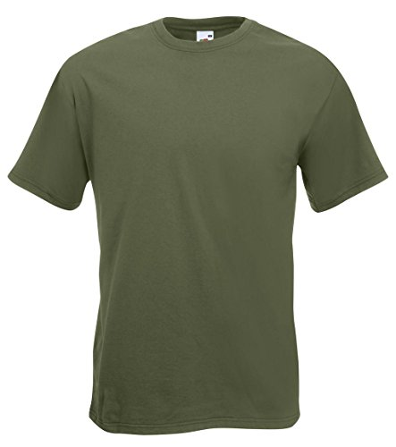 Fruit of the Loom: Super Premium Tee 61-044-0, Größe:L;Farbe:Classic Olive (Tee 0)
