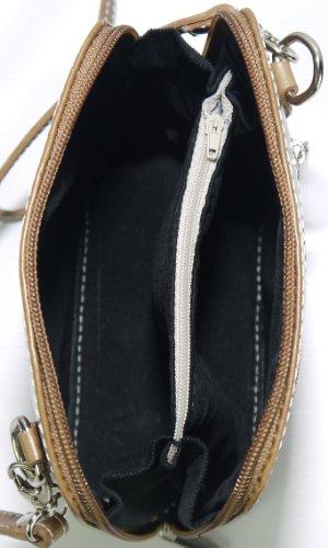 Genuine Italian Leather, Brown Small/Micro Cross Body or Shoulder Bag Handbag. Includes Protective Dust Bag.