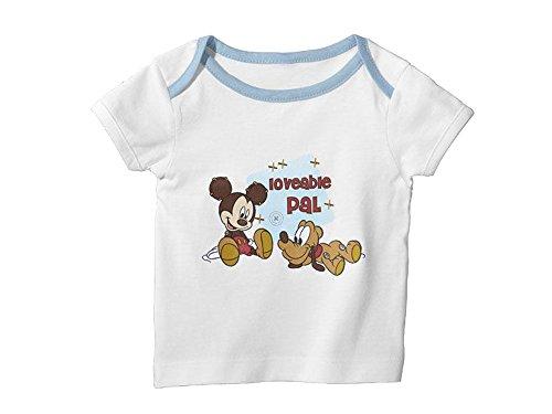 Disney Baby Shirt 2 Stück (62/68, Weiß (Micky Maus und (Disney Großhandel)