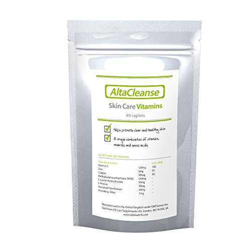 AltaCleanse Hautpflege-Vitamine - Helfen Sie Ihrer Haut, Pickel und Mitesser von innen zu bekämpfen - 60 Kapseln (60 Tage-Vorrat) (Hautpflege Vitamine)