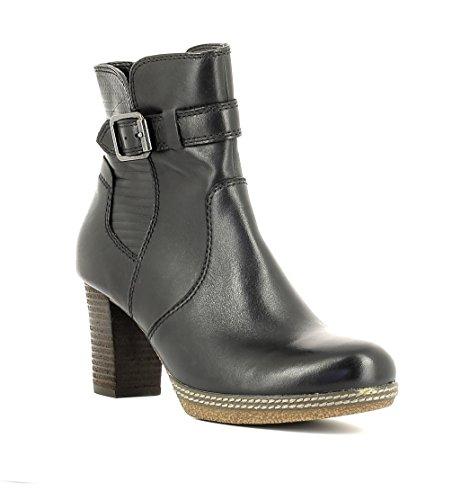 Gabor Damenschuhe 52.874.67 Damen Schnürstiefel, Schnürboots, Boots, Stiefel Schwarz (schwarz (Micro)), EU 38,5