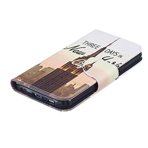 Linvei Samsung Galaxy S7 Edge handyhülle Leder mit Wallet Ständer Cover für Samsung Galaxy S7 Edge Color 3