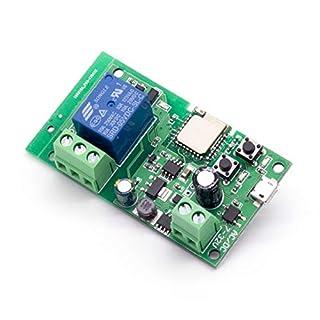 WLAN-Relais Modul funktioniert mit Alexa/Google Home/Sonoff/Ewelink/IFTTT, WiFi-Schalter für DIY Smart Home Geräte - Garagentor, Licht, Lüfter (USB DC 5V Einschalten) (ST-DC1)