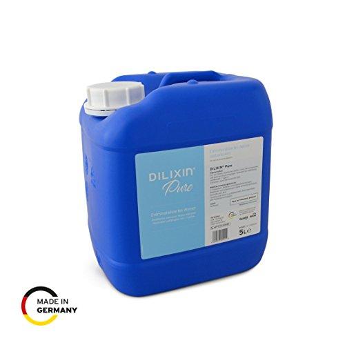 DILIXIN® Pure, entmineralisiertes Wasser durch Osmose, 5 Liter Kanister, VE Wasser für Luftbefeuchter, Destilliertes und reines Wasser mit maximaler Leitfähigkeit von < 7 µS/cm
