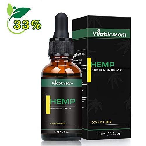 PREMIUM Natürlich ÖL TROPFE Vegan 30ml 33 Prozent