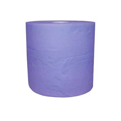 Preisvergleich Produktbild 1 Putztuchrolle blau 2lagig 22 cm breit ca.110 m lang Werkstattpapier R125