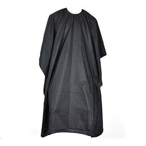 Kentop Blouse de Salon de Coiffure Cheveux Coupes Coiffure Coiffeurs Cape Robe Cape de Coiffure Tablier Noir Imperméable 95 * 140 cm
