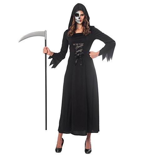 Kostüm Womens Sensenmann Lady - Sensenmann Lady Halloween Kostüm Damen Amscan