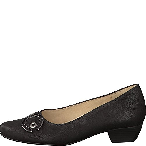Mulheres Pretos Gabor Sapatos Bombas Conforto Mais Tamanhos Em g84Z8HWA