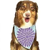 Osmykqe Hundebandana Farbige Blumen Lätzchen Trangle Kopftuch für Katzen Pupply Big Dog Soft