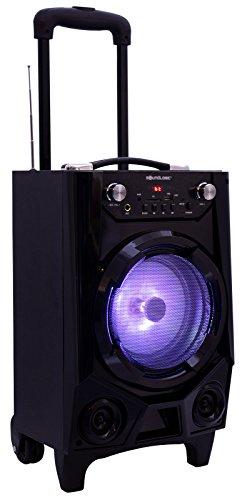 Boombox Trolley mobiles Soundsystem / Bluetooth, USB, SD-Card, FM, Radio / Maße ca.26x38cm / Superior Bass / Party LED-Beleuchtung / Akku / Soundanlage Musikkoffer / Trendyshop365