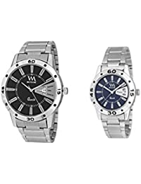 Watch Me Gift Combo Set Of Day And Date Couple Pair Gift Watch Set For 2 DDWM-008-BK-009-BU