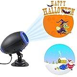 Projektionslampe Weihnachtsbeleuchtung Projektor Strahler 10 Muster Lichtprojektor mit Fernbedienung Innen & Außen Weihnachten Halloween IP65 Wasserdicht