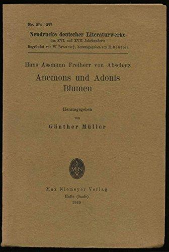 Anemons und Adonis Blumen.