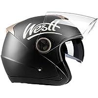 Westt® Jet · Casco da Moto Jet Aperto Nero Opaco Doppia Visiera · Omologato ECE