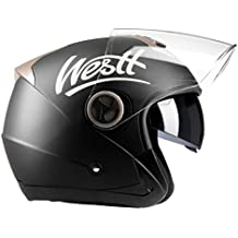 Westt® Jet · Casco de Moto Jet Abierto en Negro Mate con Doble Visera -