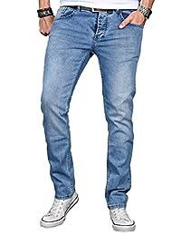 A. Salvarini Herren Designer Jeans Hose Stretch Basic Jeanshose Regular Slim 1c524236dc
