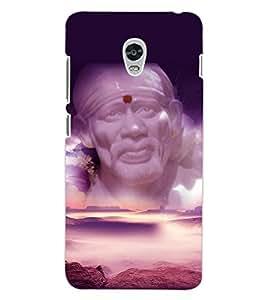 ColourCraft Lord Sai Baba Design Back Case Cover for LENOVO VIBE P1