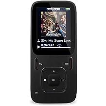 """AGPTek B03 Reproductor de MP3 8 GB pantalla de 1,8"""" con radio y grabadora de voz (Soporta hasta 64 GB tarjeta Micro SD), Negro"""