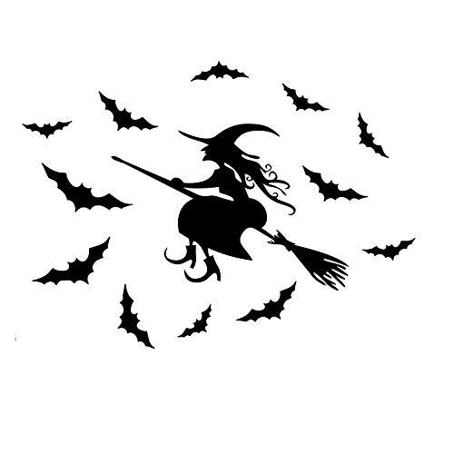 Hexe und unheimlich Fledermäuse Wand Declas entfernbare Vinyl Aufkleber Wandkunst ()