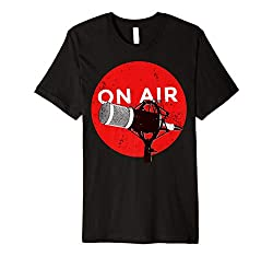 """""""On Air"""" Microphone Radio Podcast Clipart T-Shirt"""