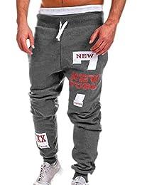 Pantalones de la manera del mens, pantalones de los hombres de la cintura baja de koly, chándal ocasional del lazo