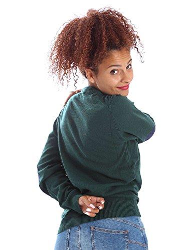 Wool&co WO4104 Pullover Femmes Verde