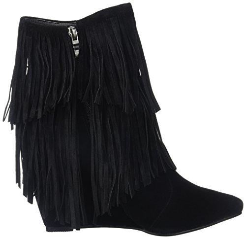 Molly Bracken Damen Boots Kurzschaft Stiefel Schwarz