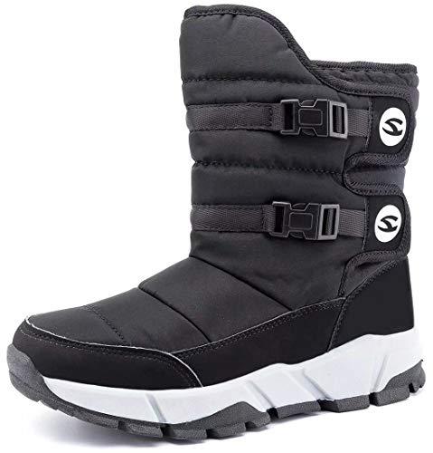 GUBARUN Boys Girls Snow Boots Kids Winter Boots Waterproof Indoor Outdoor Warm Walking Shoes
