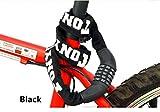 Scallop Fahrradschloss Zahlenschloss Radschloss mit Stahlkettenglieder 6mm x 900mm Kettenschloss mit Zahlenkombination 770g für Erwachsene und Kinder