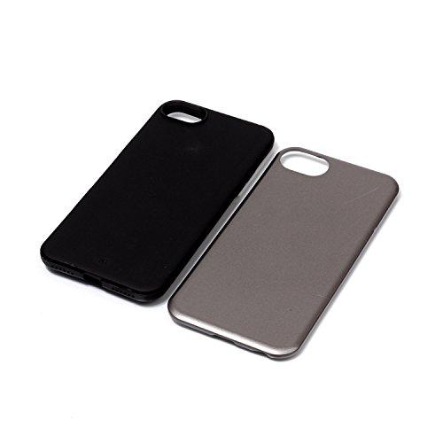 iPhone Case Cover Housse de protection IPhone 7, couleur solide plastique couverture de protection arrière pour Apple IPhone 7 ( Color : Rose , Size : IPhone 7 ) Gray