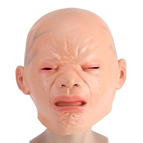 Schrei Baby Latex Maske Halloween Schreien Kind Latex Maske Böse Schlechte Kind Ghost Baby Maske (Beängstigende Kürbis Kopf Kostüm)