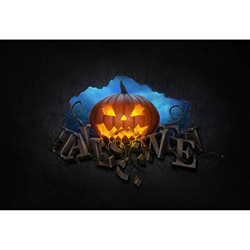 en Hintergrund 3D-Effekt Halloween Kürbislaterne Ziegelwand Hintergrund Halloween Nacht Party Fotografie Süßes und Saures Banner Dekoration Porträt Foto ()