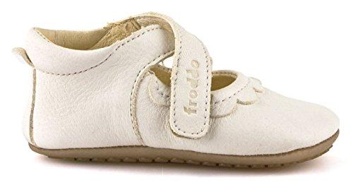 Froddo Leder Babyschuhe Hausschuhe Gummisohle T-Strap Spangenschuhe Weiß