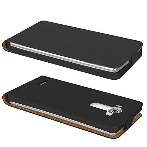 LG G4 S Hülle, EAZY CASE Premium Flip Case Handyhülle - Schutzhülle zum Aufklappen in Schwarz Schwarz (Flip)