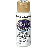 DecoArt Americana Acrylic Multi-Purpose Paint, Snow Titanium White