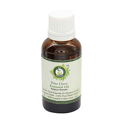 R V Essential Clavo puro 10ml Aceite Esencial 0.338 oz- Syzgium Aomatic 100% puro y natural de Grado...