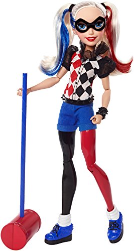 (Mattel DLT65 - DC Super Hero Girls Harley Quinn Action Puppe, 30 cm)
