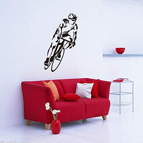 yiyitop Fabrik Athlet Bike Racing wandaufkleber Wohnzimmer Schlafzimmer tv küche abziehbilder Bike Racing Club bar café fresko 57 * 100 cm -