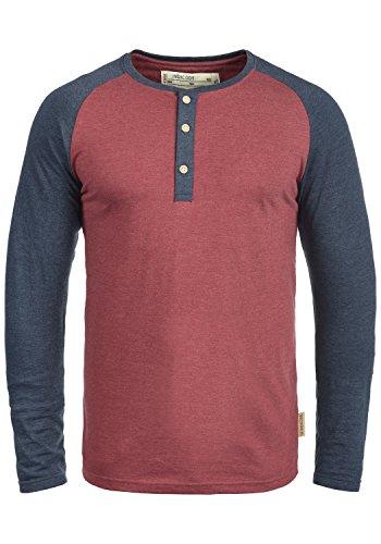 Das Longsleeve von INDICODE ist ein vielseitig kombinierbares Baseball-Shirt in einer zwei Farben Melange-Optik. Der Granddad-Ausschnitt gibt dem Langarmshirt dabeiden letzten Schliff.           DETAILS & HIGHLIGHTS: Grandad-Ausschnitt, farb...