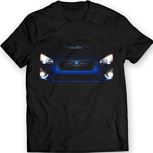 subaru-wrx-2015-maglietta-di-incandescenza-led-fari-idea-regalo-mens-100-cotone-xl-nero