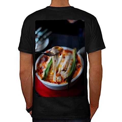 Pasta Recipe Kitchen Food Men M T-shirt Back | Wellcoda