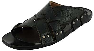 Lee Graim Men's Black Synthetic Outdoor Sandals - 6 UK