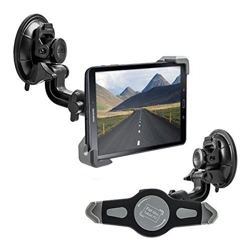 kwmobile Galaxy Tab A 10.1 T580N/T585N KFZ Scheiben Halterung - Tablet PKW Auto Halter mit Saugnapf - 360° Autohalter in Schwarz