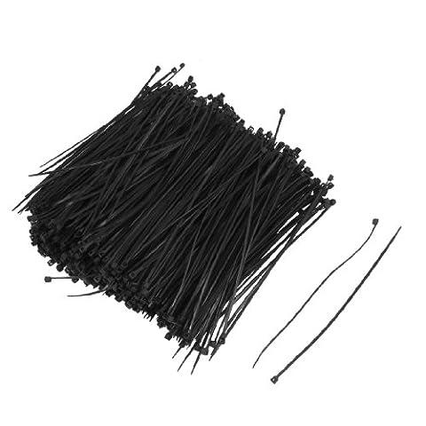 1000 Pcs 140mm x 2mm Câble auto-colliers de serrage 5,5