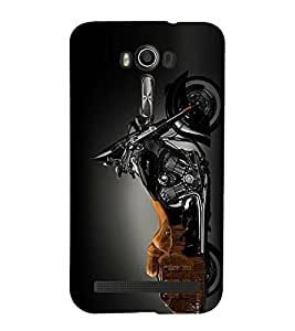 PrintVisa Designer Back Case Cover for Asus Zenfone 2 Laser ZE550KL (5.5 Inches) (Car Bike Taxi Train Bus Auto Motor Cycle Scooter Vehicle )